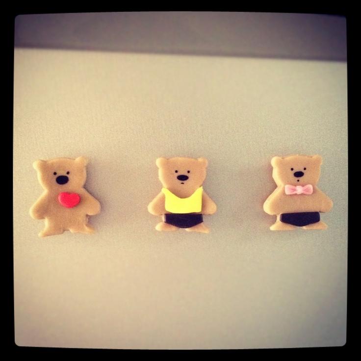 Mini ositos: imanes para el refrigerador. Little bears: magnet to the fridge.