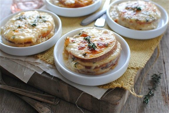 Cheesy Sweet Potato Stacks | Bev Cooks