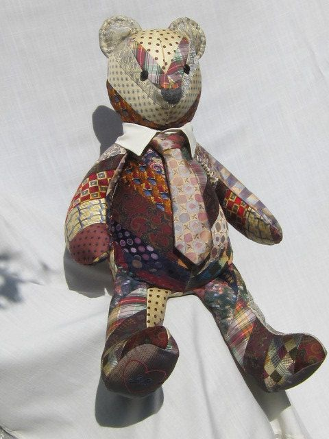 Quilted Memory Bear by Iseam2remember on Etsy  OMG what an amazing idea, brought tears to my eyes!