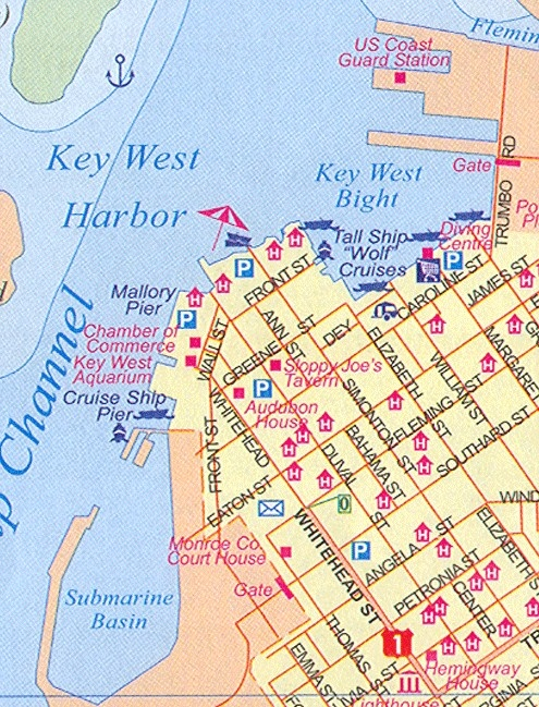 Key West map...Duval Street..the best!