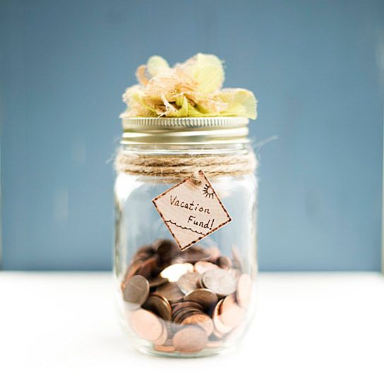 Custom Rustic Coin Jar Shabby Chic Piggy Bank Candy Cookie Vase ...
