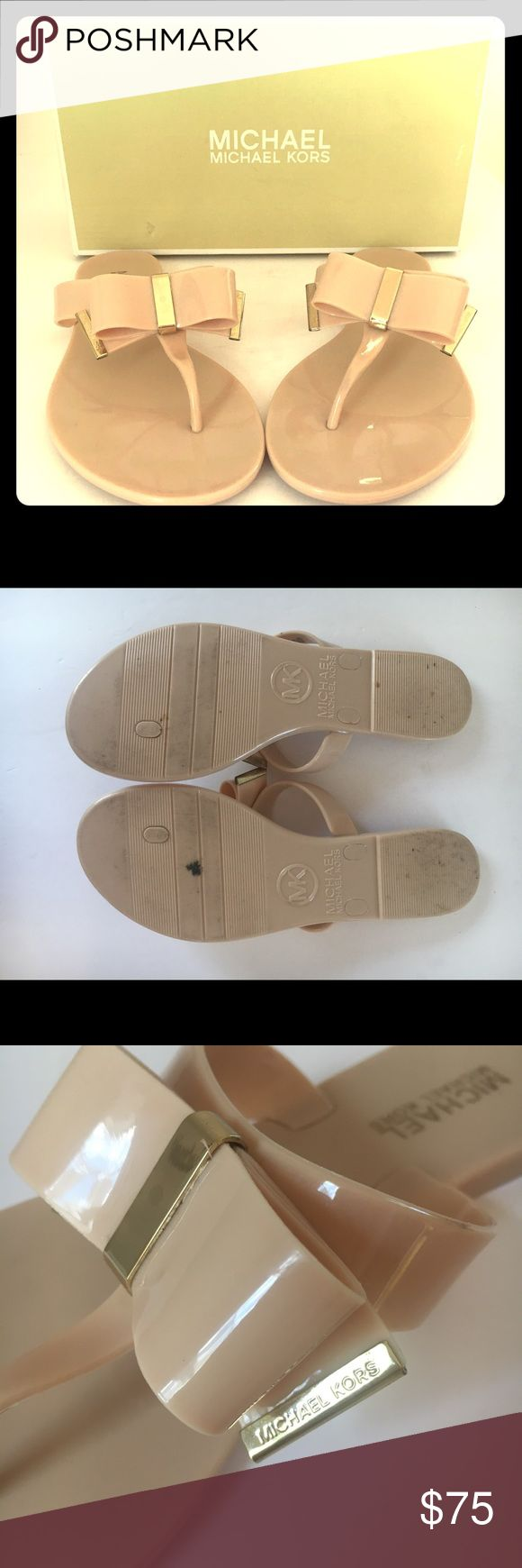 Michael Kors Kayden Tong Nude Flip Flop Size 7 Classic Michael Kors Kayden Thong Flip Flops size 7. Gently used. I️ wore them once. Box included! Michael Kors Shoes Sandals