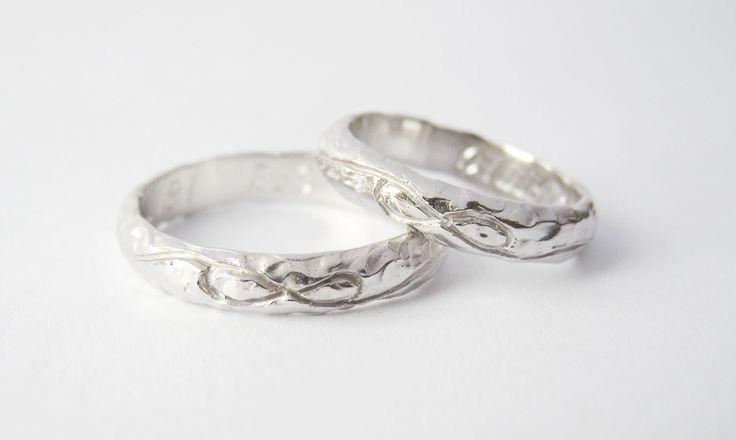 MIOeTUO - anelli personalizzati  fedi nuziali uniche  unique wedding rings Oro bianco - white gold