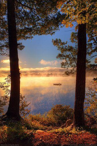 Morning Mist on Echo Lake