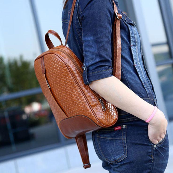 2016 сотки старинные школьные сумки для подростков кожа женщины рюкзак студенты книга рюкзаки воды Pfoof дорожные сумки купить на AliExpress