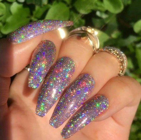 Galaxy Holo Nail Glitter – Holographic Nail Powder Holo Nail Art Laser Holograph…