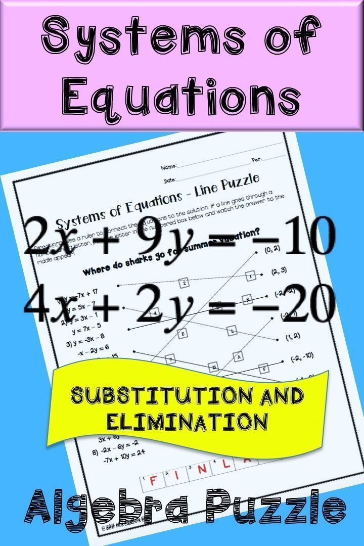 Systems of Equations by substitution and elimination