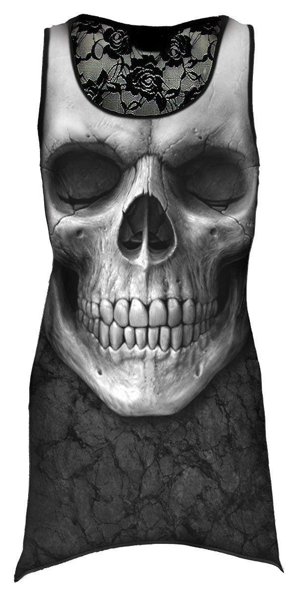 SPIRAL DIRECT SOLEMN SKULL White T-Shirt,Biker//Tattoo//Rock//Metal//Dark Wear Top