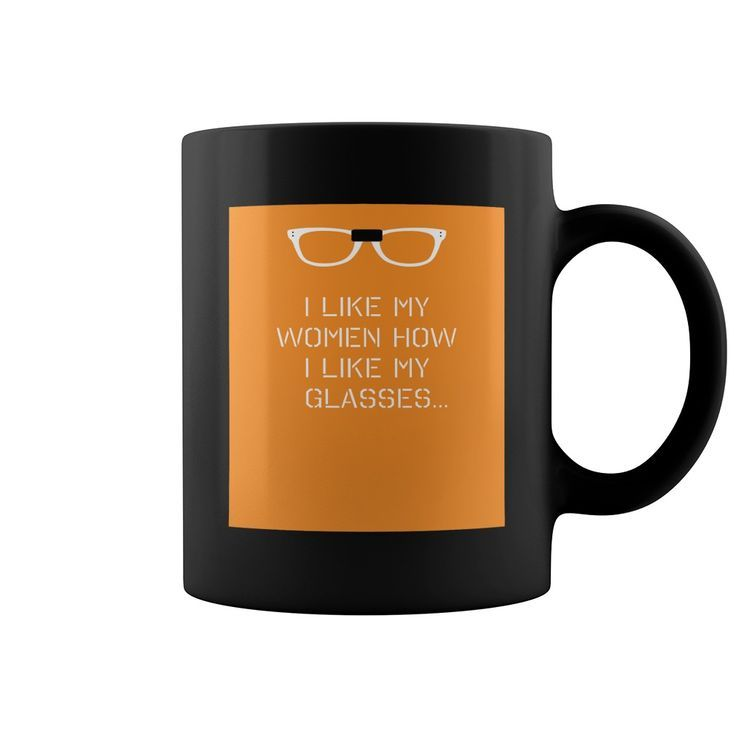 Orange and Black Glasses mug design11OZ Black Ceramic coffee mug Coffee Mugs Tea Cups