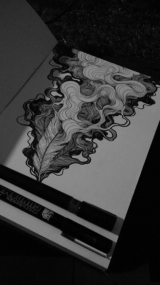 ****looks like the hair I used to do on fashion illustrations-look back into them-could do baroque style pattern with lots of line work rather than big heavy solid blocks of gold