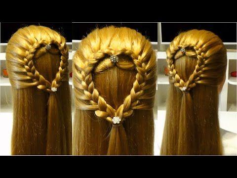 Прическа в школу с плетением.Easy back to school hairstyles for long hair - YouTube