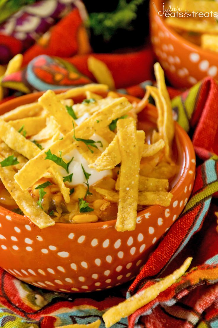 Chicken Tortilla Soup Recipe ~ A Quick, Easy Soup Recipe that is Comforting and Full of Flavor! Make it Tonight for a Perfect Quick Dinner! ~ http://www.julieseatsandtreats.com