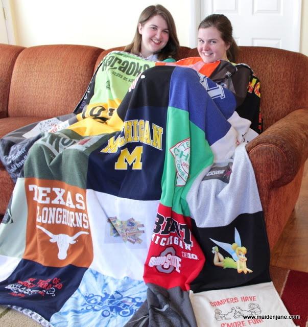 Maiden Jane: T Shirt Blanket with 25 Blocks - the Girlfriend Blanket