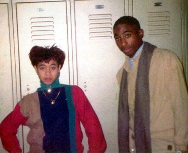 Jada Pinkett Smith and Tupac Shakur in high school.