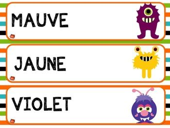 {Free} FRENCH WORD WALL / LES COULEURS - 12 mots-étiquettes / Download, Print & Show off