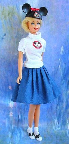 vintage barbie francie mickey mouse club