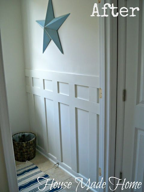 diy craftsman style wall molding using leftover 1  2 quot  mdf bathroom half wall molding Bathroom Wall Mouldings