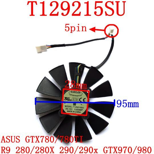 EVERFLOW T129215SU 95mm 12V 0.5A 28X28X28X28mm for ASUS GTX780/780TI R9 280/280X 290/290x GTX970/980 Cooling fan     Tag a friend who would love this!     FREE Shipping Worldwide     Get it here ---> https://shoppingafter.com/products/everflow-t129215su-95mm-12v-0-5a-28x28x28x28mm-for-asus-gtx780780ti-r9-280280x-290290x-gtx970980-cooling-fan/