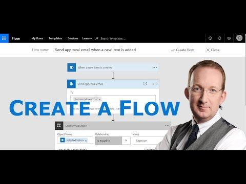 *Create your first Microsoft Flow* Peter Kalmström shows how you can use a Microsoft Flows template to create a simple flow for a business project desicion and notification: http://www.kalmstrom.com/Tips/Office-365-Course/First-Microsoft-Flow.htm
