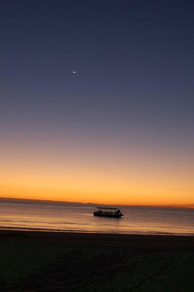 Sun. Moon. Star. Sea. Sand. [Tangalooma Island Resort, Queensland]