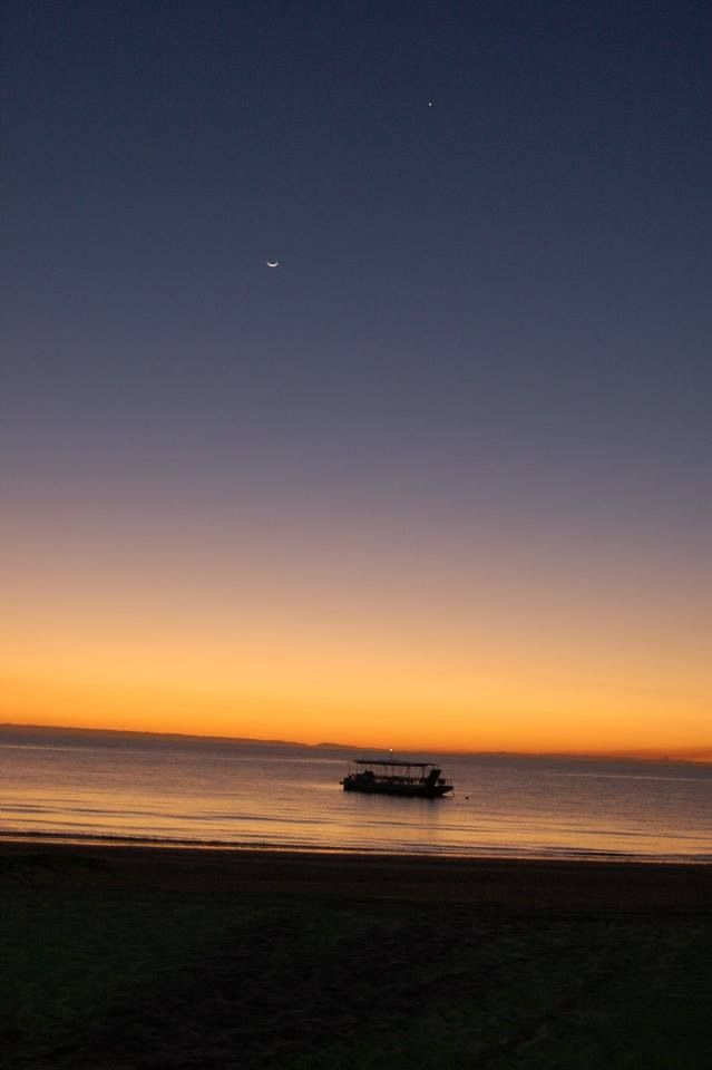 Sun. Moon. Star. Sea. Sand. [Tangalooma Island Resort, Queensland]