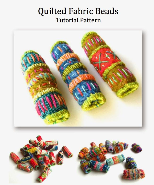 Quilted Fabric Bead Tutorial Pattern