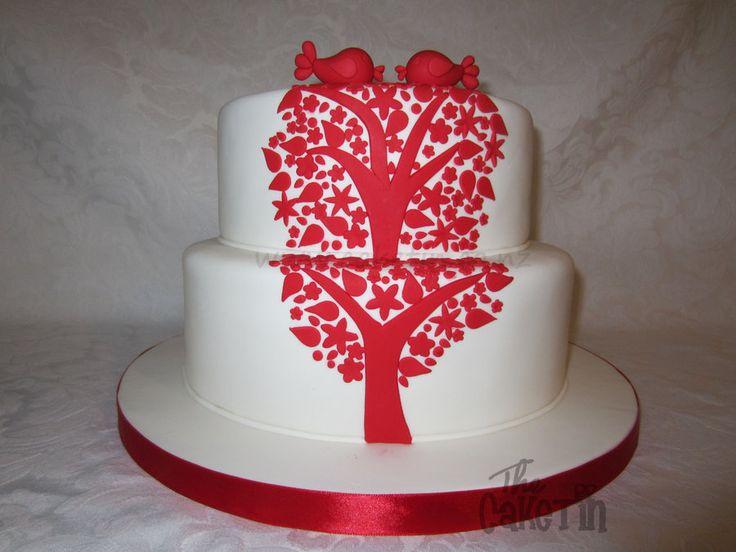 Birds in a Tree themed Wedding cake