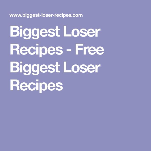 Biggest Loser Recipes - Free Biggest Loser Recipes