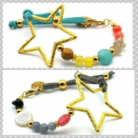 My Star en azul o en gris, con cuál os quedáis?  #love #fashion #instamood #tendencia #jewels #newarrivals #nuevo #lovely #bracelets #girl #handmade www.byneskapolita.com