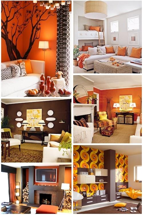 Love The Idea Of Burnt Orange Decor Reality Home Pinterest