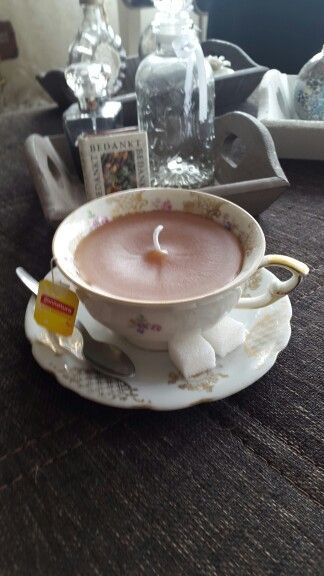 Kopje thee kaars