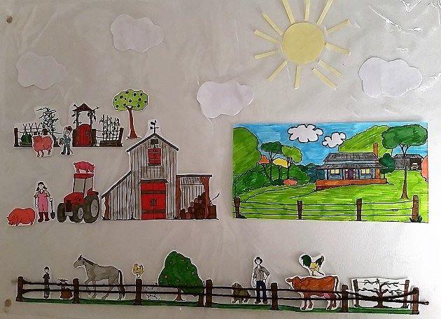 Paper city - farm contact paper craft