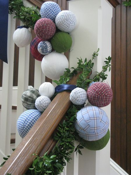 Plaid shirt ornaments from Eddie Ross