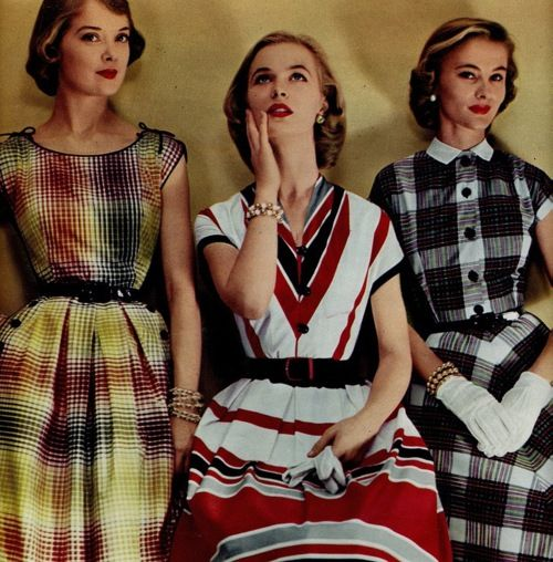Ladies' summer fashions, 1950s. such a great era for clothes!