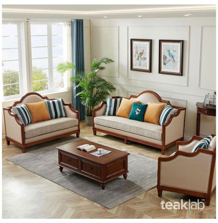 Teaklab Teak Wood Sofa Set Designs, Traditional Teak Wood Sofa Set Designs Pictures