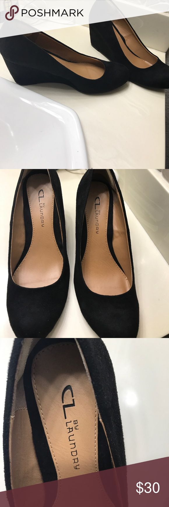 Black wedges Women's 7M black wedges by CL Laundry (Worn only once) cl laundry Shoes Wedges