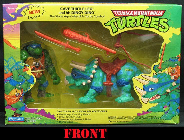 Tmnt cave turtle leo and his dingy dino ninja turtles 1994 mib derek