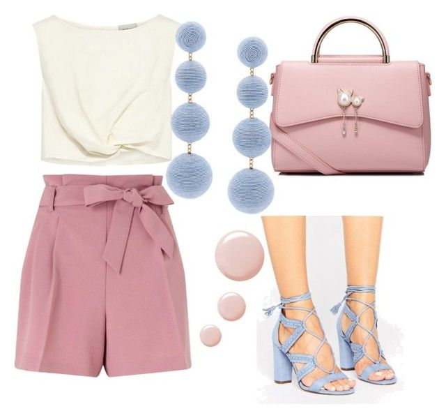 """""""Love Pink"""" by gforfashion on Polyvore featuring Miss Selfridge, Rachel Comey, Call it SPRING, WithChic, Rebecca de Ravenel and Topshop"""