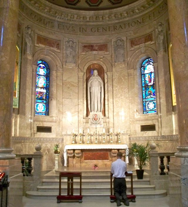 Cardinal Newman's Prayer for the Peace of Christ: The Chapel of the Blessed Sacrament or eucharistic chapel in the National Shrine of the Apostle Paul, Saint Paul, Minnesota.