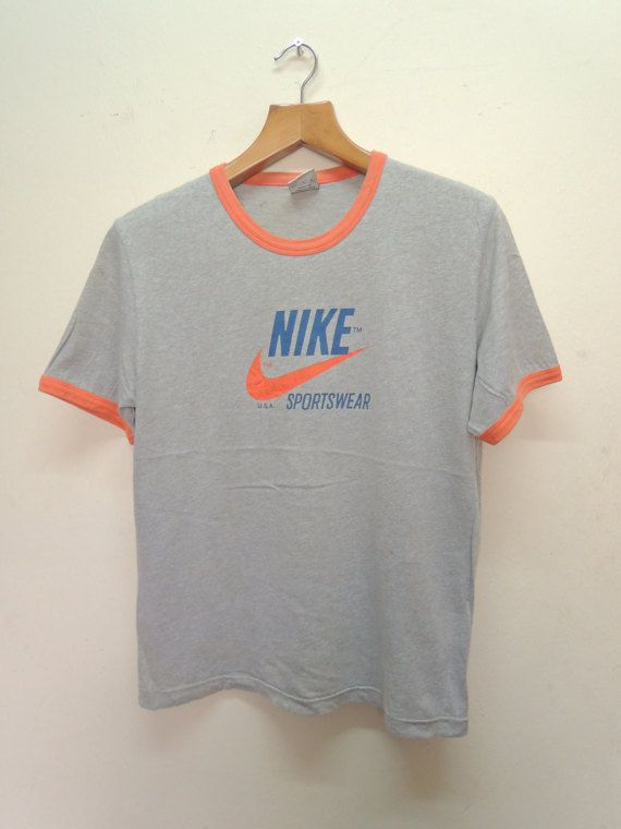 Vintage Nike Sportswear Big Logo Sport T Shirt Size M Vintage Shirts Nike Sportswear Sportswear