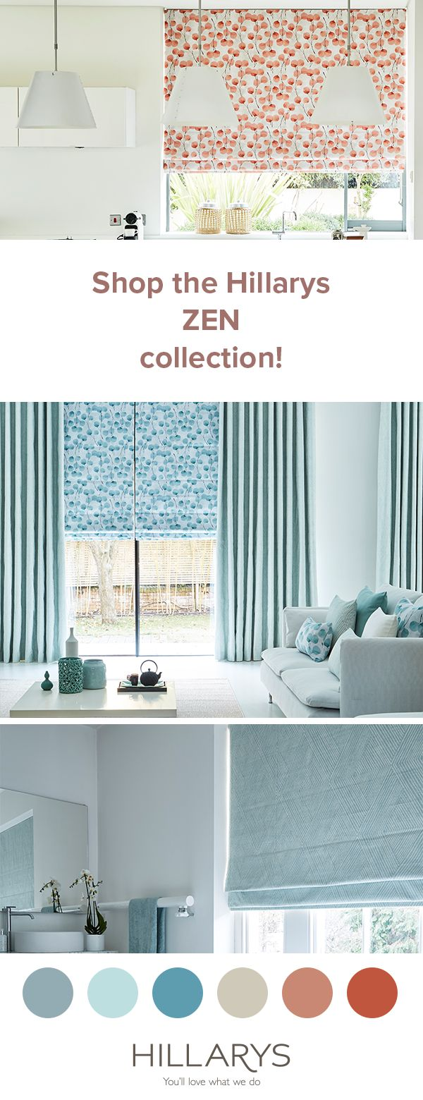 Cool blues? Or maybe warm coral tones? Our ZEN COLLECTION is full of contemporary Roman blind and curtain fabrics to soothe your soul. Visit our website to explore the collection.