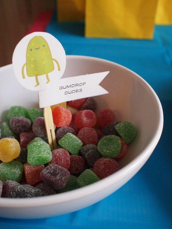 Part of the candy kingdom treat bag table. Adventure Time Birthday Fun! – Modern Kiddo