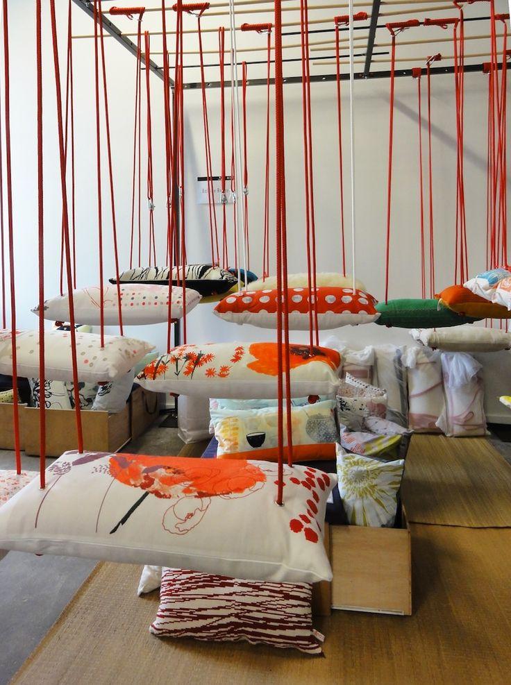 Soft pillow swing by baleinerouge. via balançoire déco