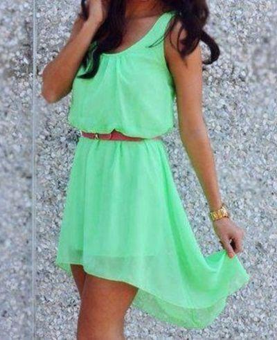 New Beautiful Green Chiffon Hi Low Dress Size Small-Med-Lg or Xl on Chiq  $22.49 http://www.chiq.com/new-beautiful-green-chiffon-hi-low-dress-size-small-med-lg-or-xl