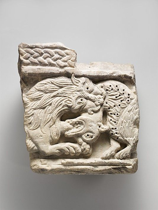 Fragment of an Animal Relief, marble. Italian, circa 1150