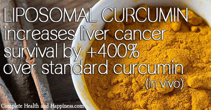 Liposomal Curcumin Increases Liver Cancer Survival +400% over Standard Curcumin in Vivo - Complete Health and Happiness