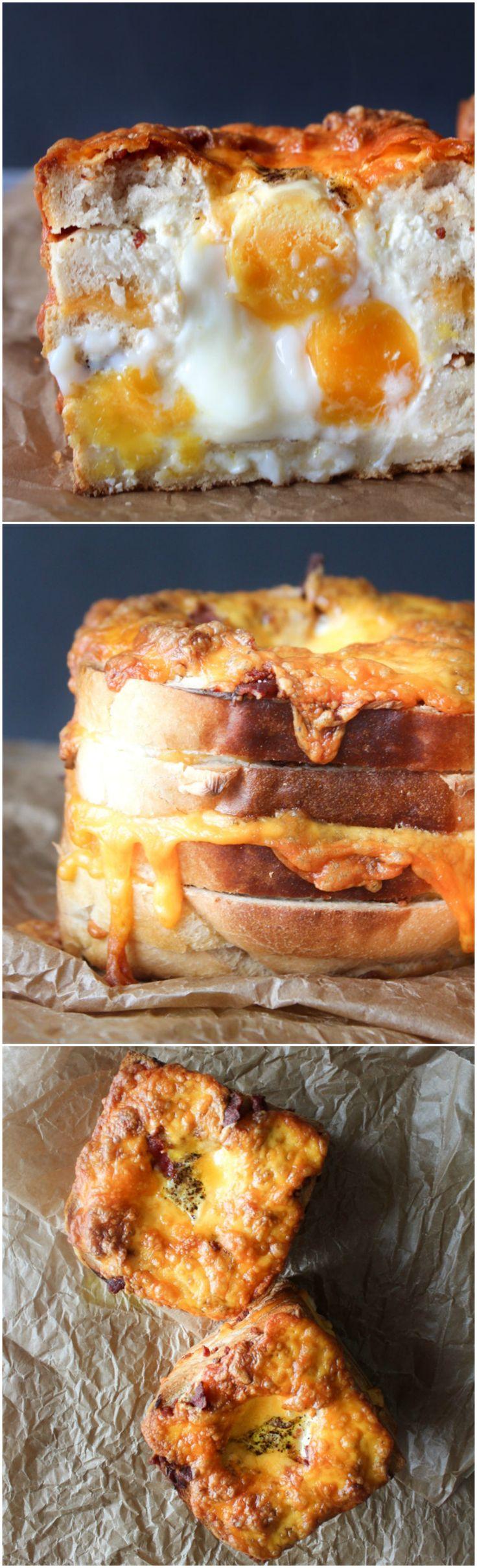 Breakfast Towers - Stuffed Bread Recipe - Bacon Recipe - Egg Recipe - Bread Recipe - Cheese Recipe -  Breakfast Recipe