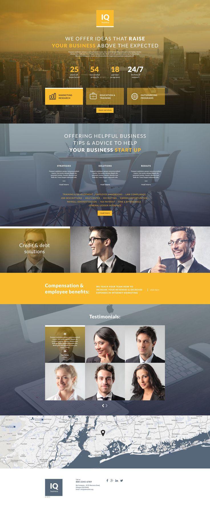 Шаблон посадочной страницы #55542 на тему Бизнес и услуги от TemplateMonster