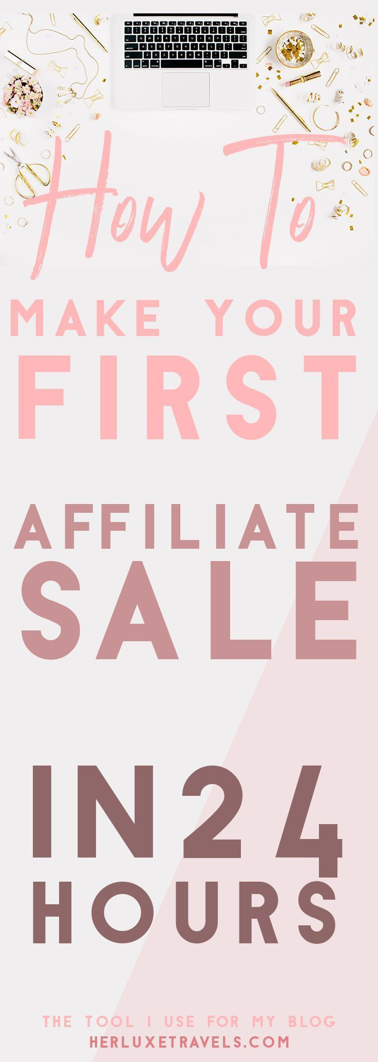How to Make your First Affiliate Sale In 24 HOURS!! This tool is amazing , I used it to start earning affiliate income on my brand new blog!