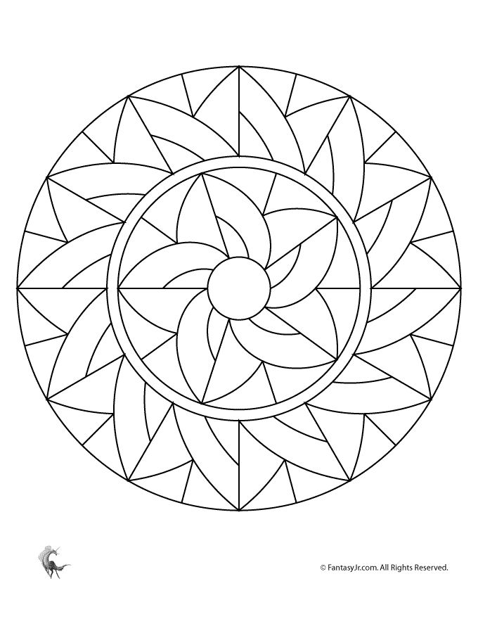 art deco mandala template to tangle